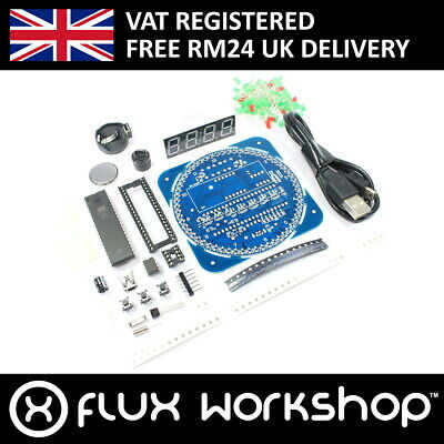Digital LED Clock Unsoldered DS1302 SMD Soldering Flux Workshop