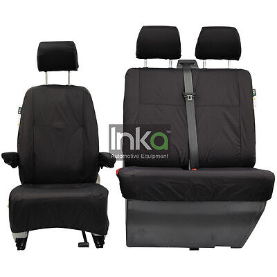 VW T5 Shuttle Pre GP Front Inka Fully Tailored Waterproof Seat Cover Black