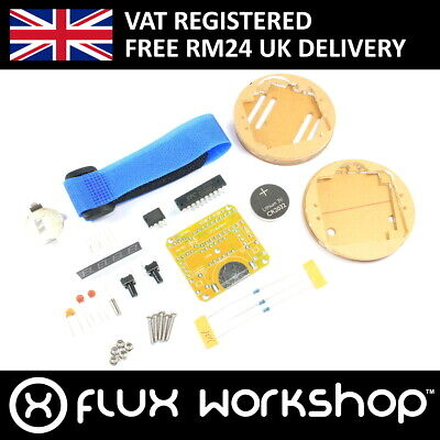 Transparent Digital Watch DIY Kit Unsoldered Clock Soldering Flux Workshop