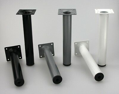 Furniture Table Sofa Legs White Silver Or Black Round Dmtr 30mm Various Heights