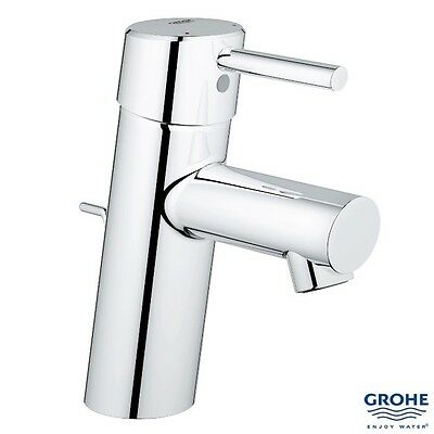 "GROHE 32202 10L Concetto Single Lever Basin Mixer 1/2"" w/ Pop-Up Waste, Chrome"