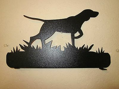 Custom Bird Dog Mailbox Topper (No  Name) Steel Black Powder Coat Finish