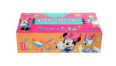 Disney Minnie Mouse 2 Ply Premium White Facial Tissues 130 Count