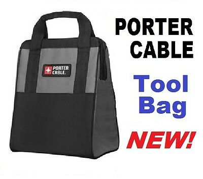 Porter Cable Soft Side Canvas Cloth Storage Tool Bag 13 H X