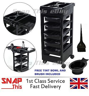 Salon Hairdresser Barber Beauty Storage Trolley Hair Drawers Roller Cart Spa NEW
