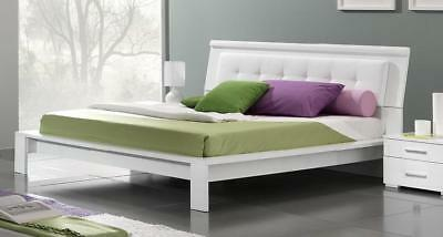 Geko Queen Bed Modern Contemporary White Lacquer Bedroom Furniture Made in Italy
