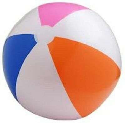 "MULTI COLORED BEACH BALL 16"" Pool Party Beachball NEW #AA13 Free Shipping"