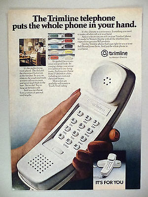 Trimline Phone PRINT AD - 1980 ~~ Bell Telephone ~~ Western Electric