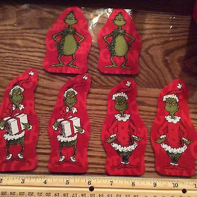Style#6 The Grinch Who Stole Christmas Fabric Iron On Appliques - Christmas
