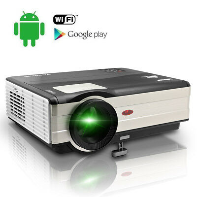 HD Android WIFI LED Home Theater Projector Wireless Game HDMI USB VGA DTV 1080p