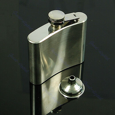 Pocket 5oz Stainless Steel Liquor Whiskey Alcohol Drink Hip Party Flask +Funnel
