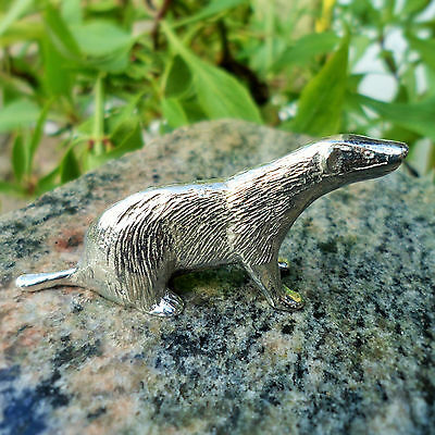 Pewter Badger.  Made in Cornwall, contains 92% Tin; ideal 10th anniversary gift