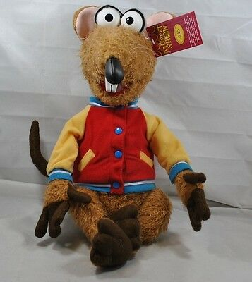 "NWT RARE 2003 Rizzo The Rat 18"" Sababa Toys The Muppet Show Plush Stuffed Animal"