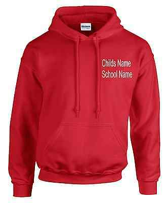 Kids Boys Girls School PE Kit T Shirts & Hoodies Embroidered Name & School