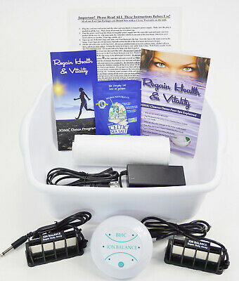 IONIC CLEANSE DETOX Foot Bath Spa & 2 Super Arrays! 60.00 VALUE 1 YEAR WARRANY!