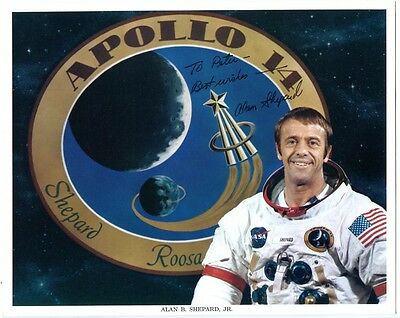 "ALAN SHEPARD - orig. Autogramm, 20x25 cm, ""To Peter"", NASA, Apollo 14, signed"