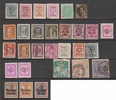 (ZA-136) 1861-1912 Belgium mix of 47 stamps