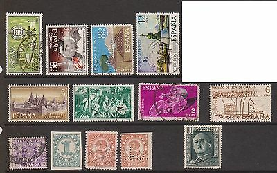 (ZA-125) 1900-77 Spain mix of 37 stamps