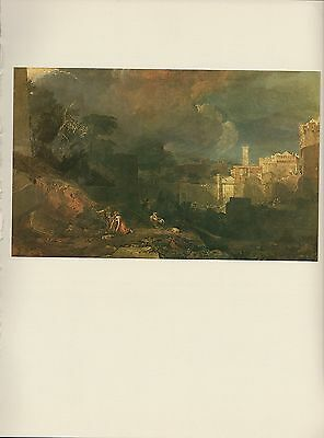 """1976 Vintage TURNER """"THE TENTH PLAGUE OF EGYPT TIPPED COLOR Art Print Lithograph"""