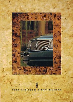 1994 LINCOLN CONTINENTAL Brochure / POSTER, High Gloss