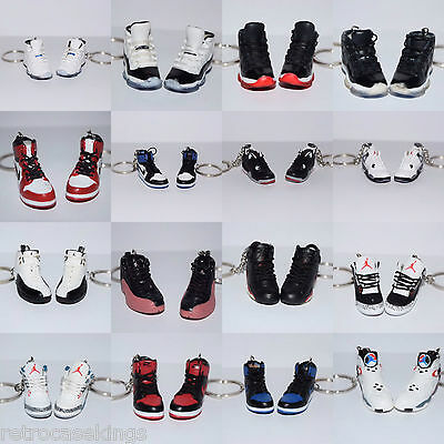 Brand New Retro 3D Mini Sneaker Keychain Pair Multi-Color Free Shipping Jordan