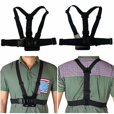for GoPro Camera HD Hero 1 2 3 4 Adjustable Elastic Chest Strap Harness Mount