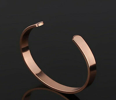Pure Copper Magnetic Therapy Bracelet Wrist Bangle Pain Headache Relief Rose Red