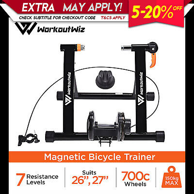NEW WORKOUT WIZ INDOOR BICYCLE TRAINER ROLLERS Magnetic Stand Cycling Training