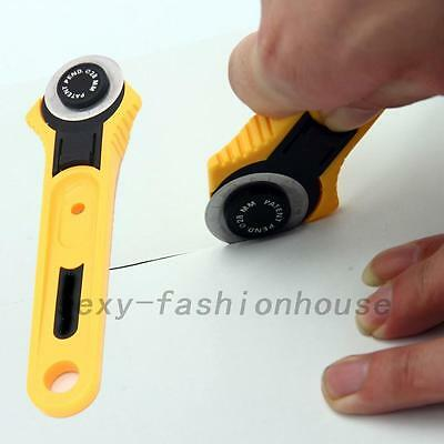 Yellow 28mm Circular Cut Blade Patchwork Fabric Leather Craft Rotary Cutter Tool