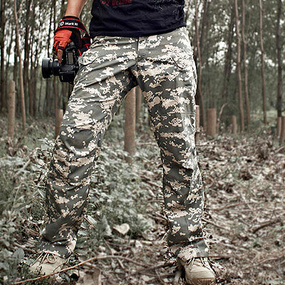 Men's Jungle Military Tactical Sportwear Camping Outdoor Casual Pants Trousers