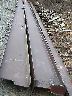 "Two 60' steel I beams 21"" x 8 1/4"""