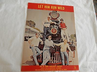 """The Beach Boys """"Let Him Run Wild"""" SHEET MUSIC! INCREDIBLE! ONLY COPY ON eBAY!!"""