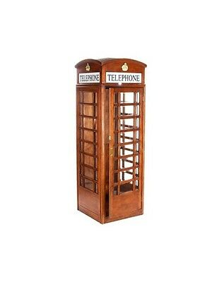 ENGLISH STYLE REPLICA TELEPHONE BOOTH / TELE PHONE~LONDON ENGLAND in MAHOGANY