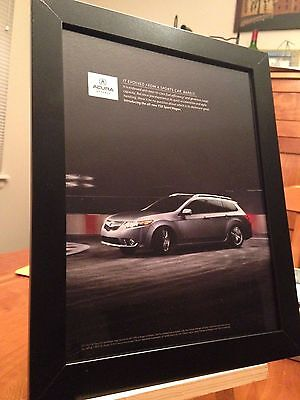 "1 FRAMED ORIGINAL 2011 ACURA ""TSX SPORT WAGON"" AUTO SUV PROMO AD - 2 available!"
