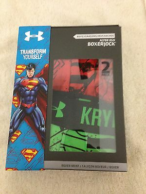 Under Armour Alter Ego Boxerjock Brief, Boys Size Yxl, 1249998 828, Nib