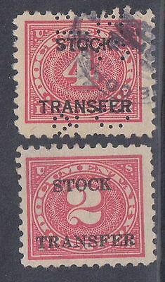 (ZB-34) 1940 USA partial 4set 2c to 20c stock transfer stamps