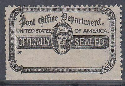 (ZB-63) 1890 USA black & white officially sealed label (D)