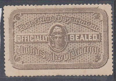 (ZB-61) 1890's USA brown officially sealed label (B)