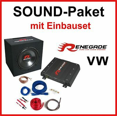 Bass Subwoofer System Sound Package for VW LUPO subwoofer Final stage Renegade