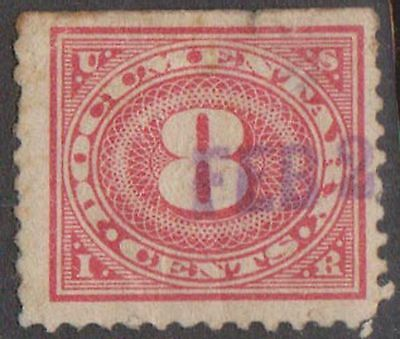 (ZB-9) 1917 USA 8c red documentary Stamps (D)