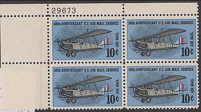 (ZB-174) 1968 USA 10c 50th anniversary of US air mail service 4block mint (A)