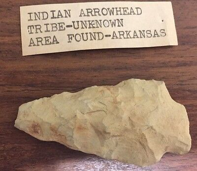 Arrowhead Indian Artifact Collectible  Found In Arkansas Tribe Unknown