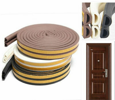 5M Foam Self Adhesive Window Door Excluder Seal Strip Rubber Tape Weatherstrip