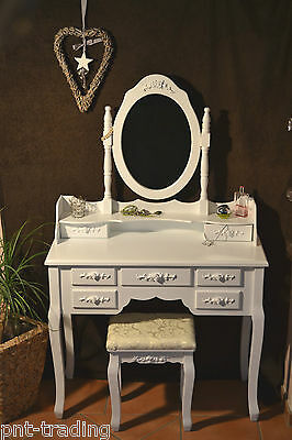 schminktisch frisiertisch weiss toilettentisch shabby. Black Bedroom Furniture Sets. Home Design Ideas