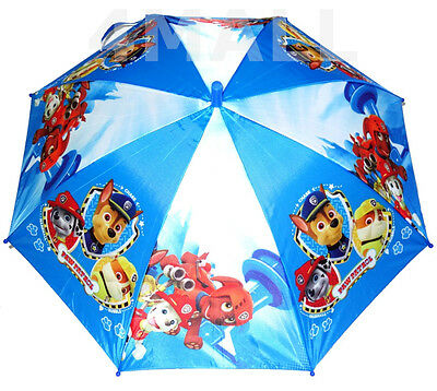 Kids Boys Rain Proof Umbrella Sun Shade Parasol Sunshade Paw Patrol Rescue
