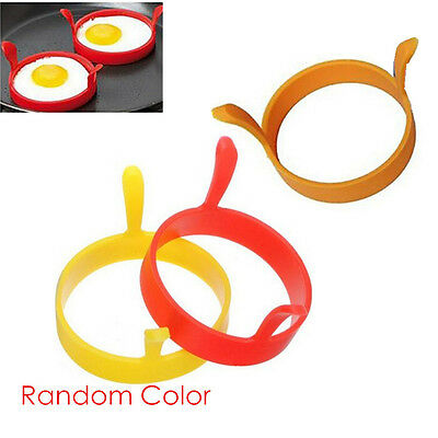 NEW Kitchen Cooking Tools Silicone Round Ring Fried Egg Pancake Mold Mould #ACX