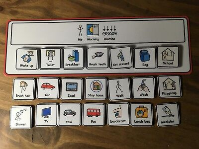 Morning Routine Visual Aid/Support & 20 Symbols for Autism/ADHD/ASD/SEN