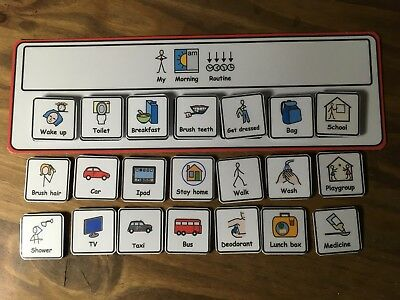 Morning Routine Visual Aid/Support & 21 Symbols for Autism/ADHD/ASD/SEN