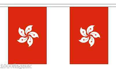 China Hong Kong Region Polyester Flag Bunting - 3m long with 10 Flags