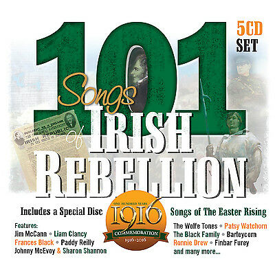 101 Irish Songs Of Rebellion 5 Cd Set - Irish Rebel Songs New Release 2015